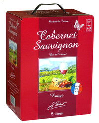 Miniature JL Parsat - Wine of France - Red Cabernet Sauvignon